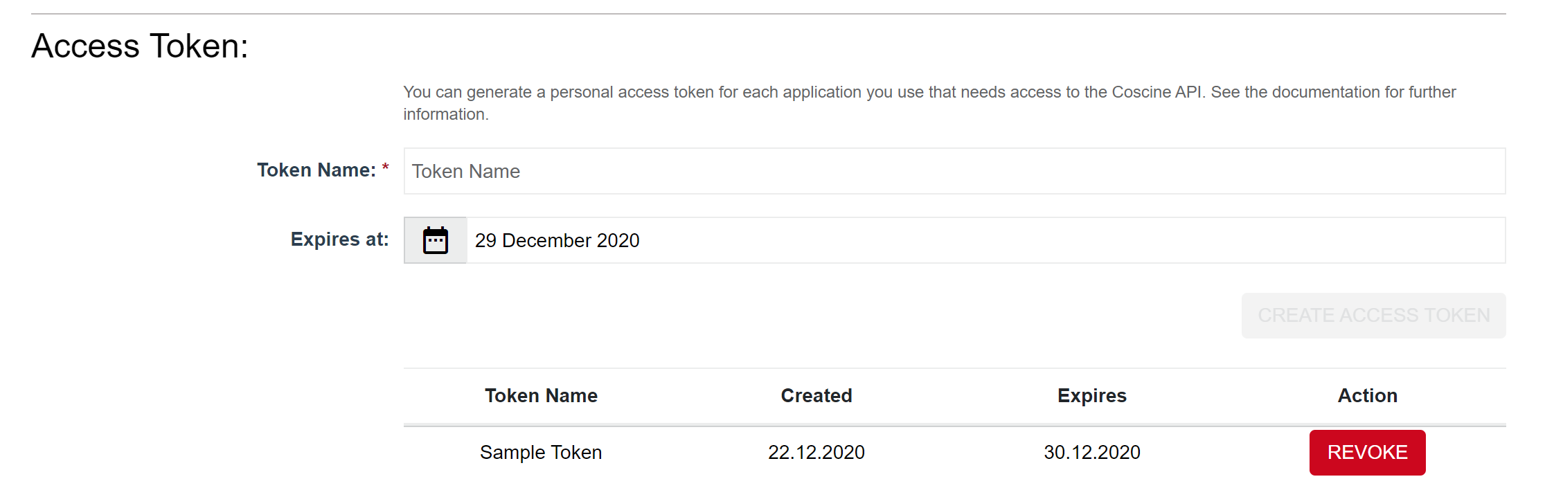 Sample Access Token