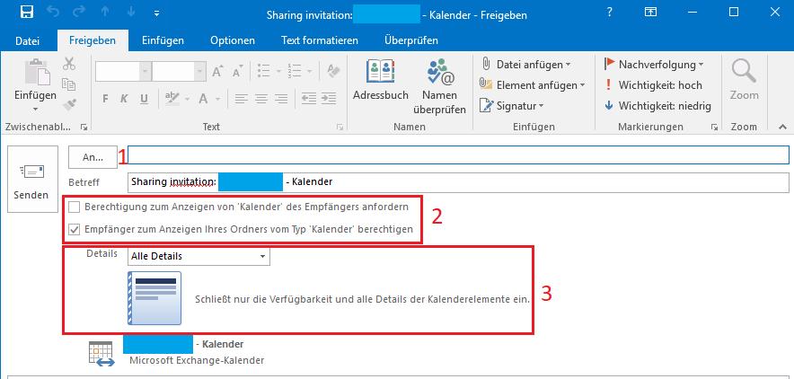 Outlook Berechtigungen 2