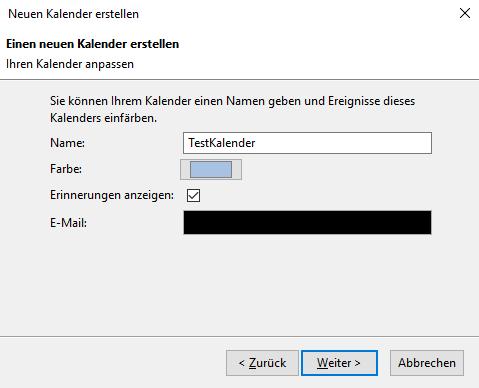 Thunderbird 60.x mit ExchangeCalendar v5.0.0 11