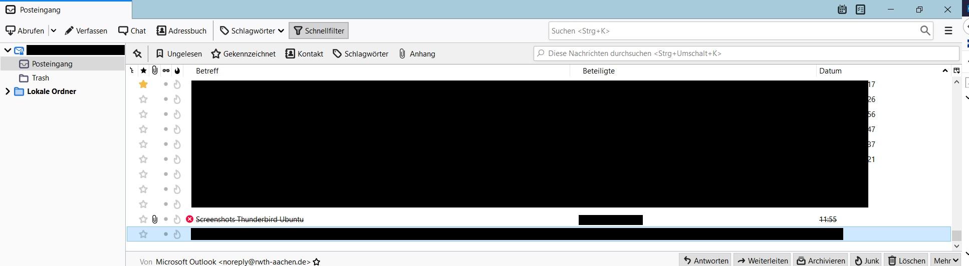 Wiederherstellung gelöschter Mails in Outlook 9