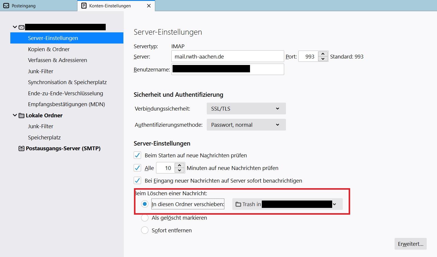 Wiederherstellung gelöschter Mails in Outlook 10