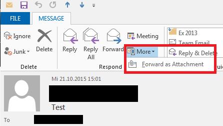 Forwarding E-Mail as Attachment 1
