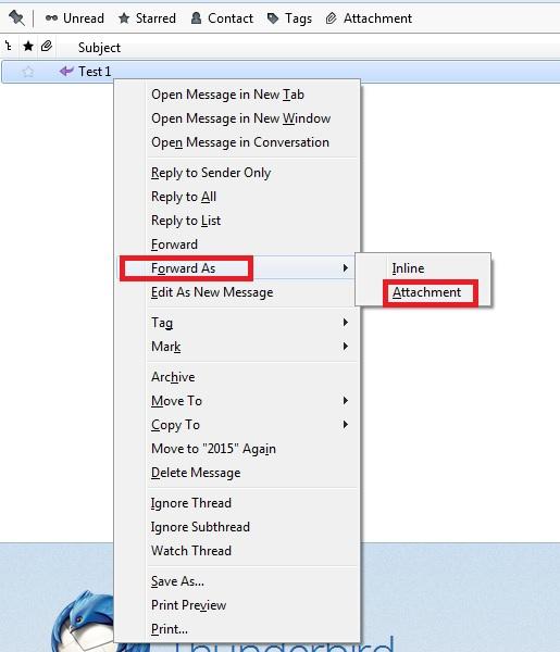 Forwarding E-Mail as Attachment 5