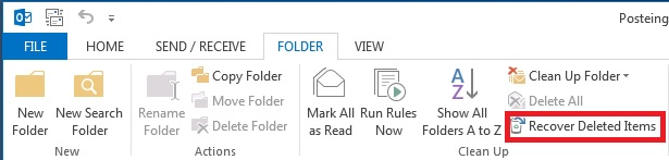 Restoring deleted e-mails 2