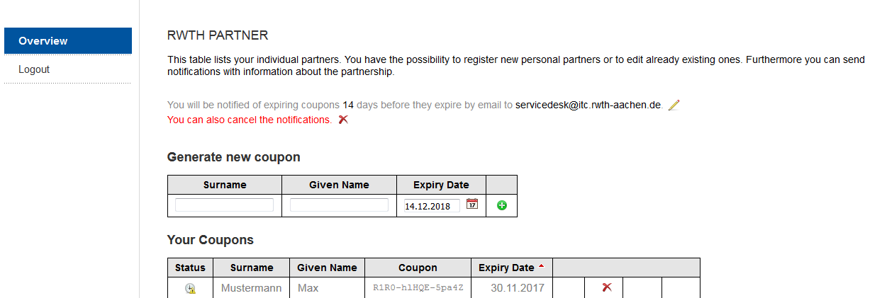 The picture shows the sponsorship expiration data