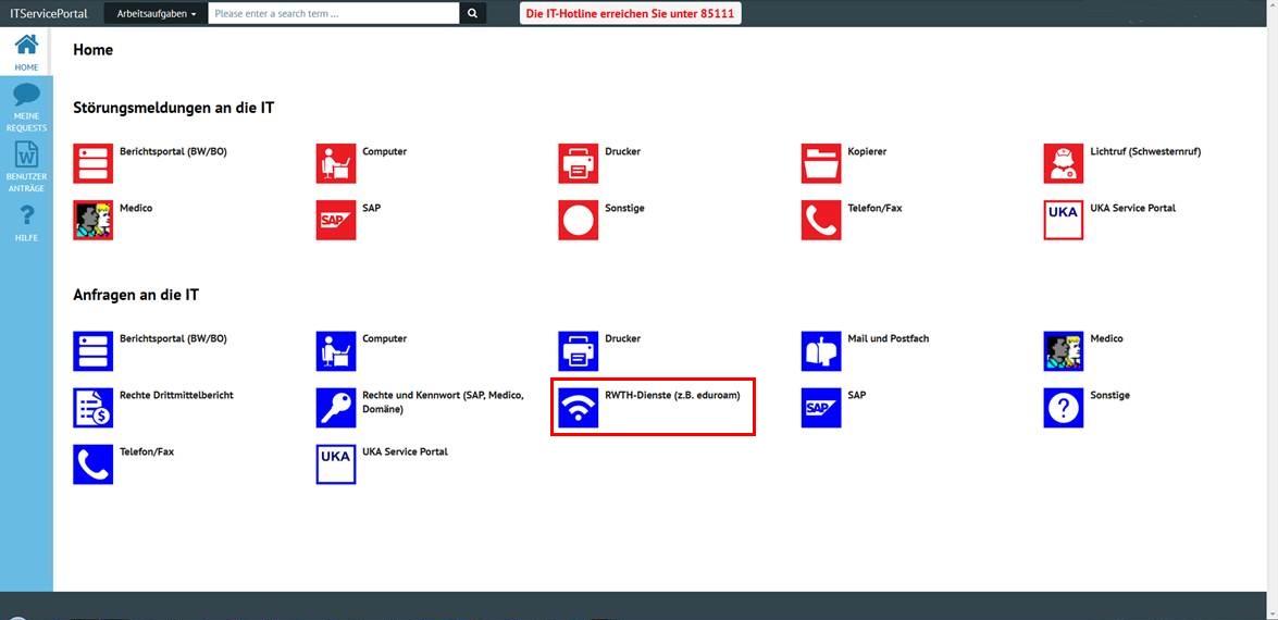 UKA IT-Service-Portal