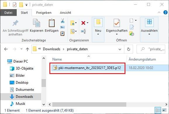 p12-Datei im Windows Zertifikatsspeicher importieren 1