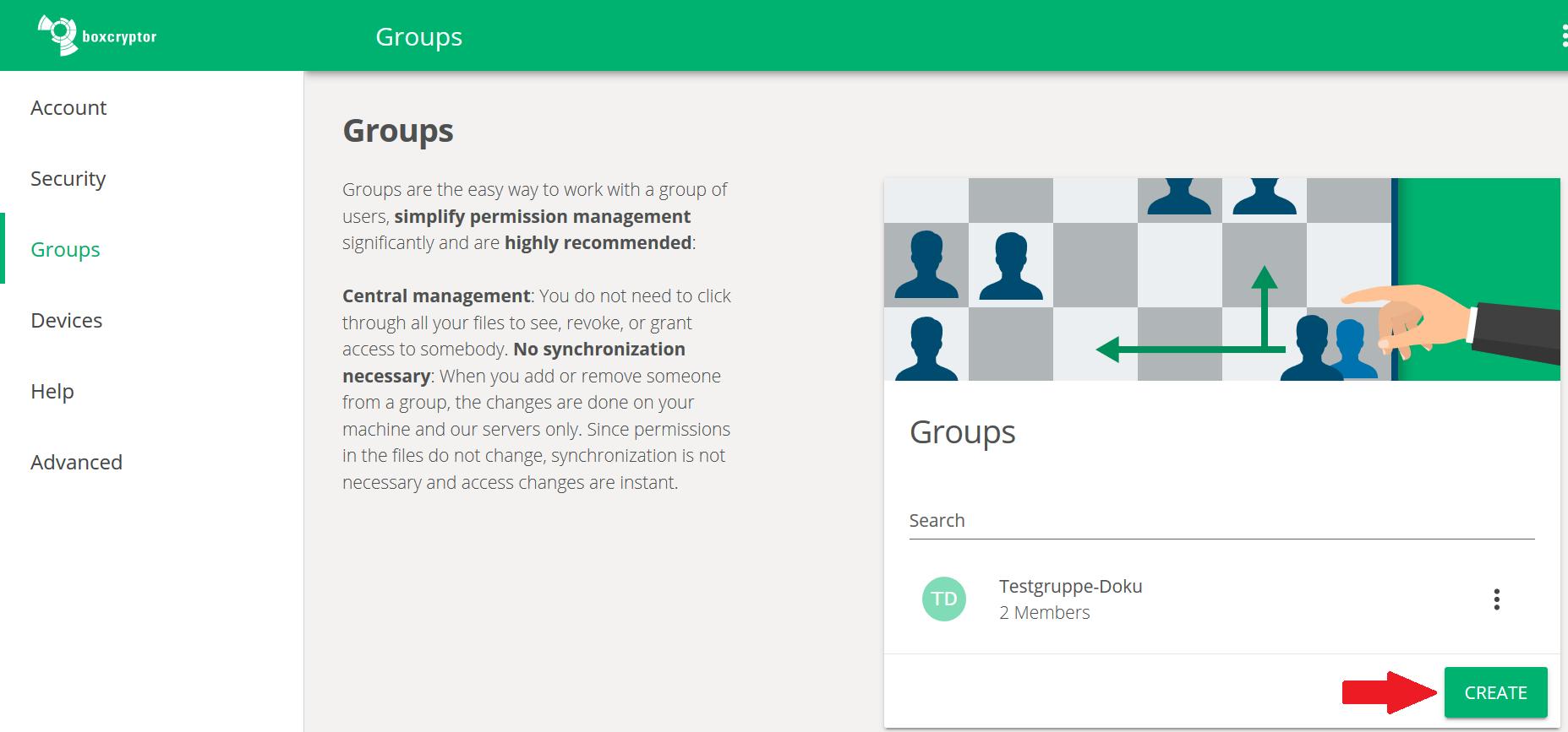 create group 1