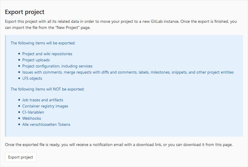 Migration von GitLab Projekten1