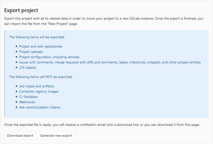 Migration von GitLab Projekten2