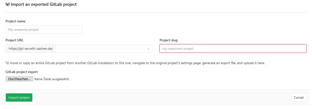 Migration von GitLab Projekten4