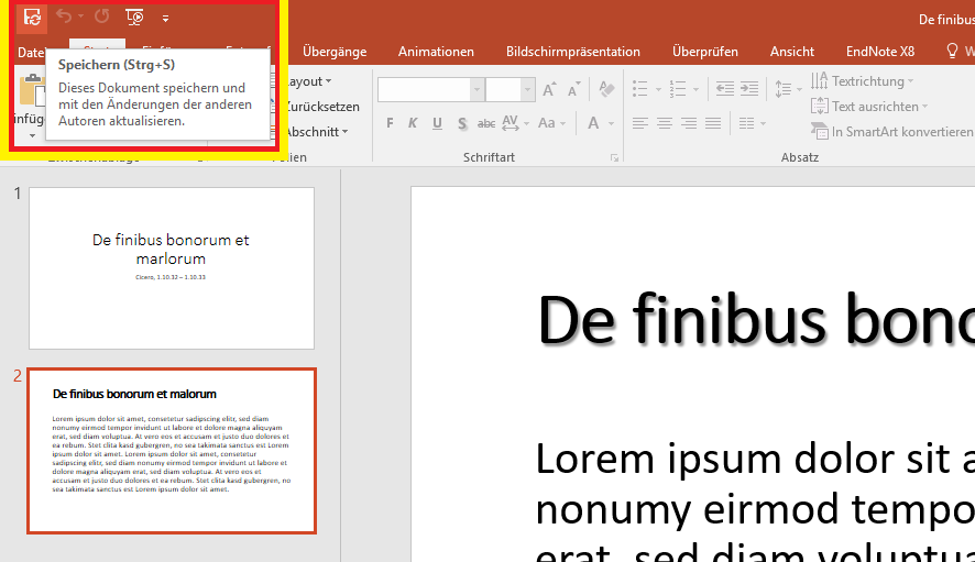 PowerPoint document synchronization