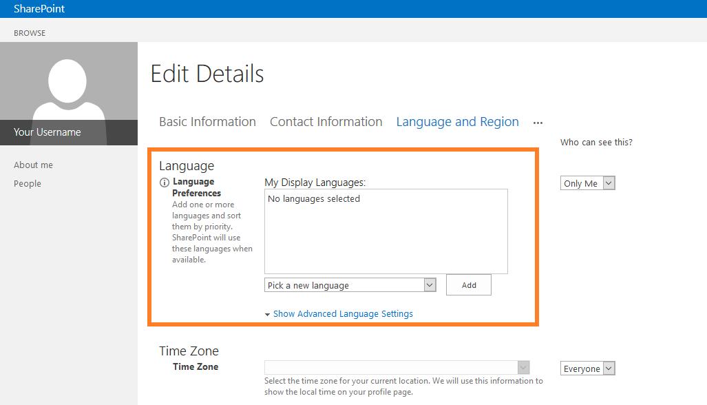 SharePoint user profile