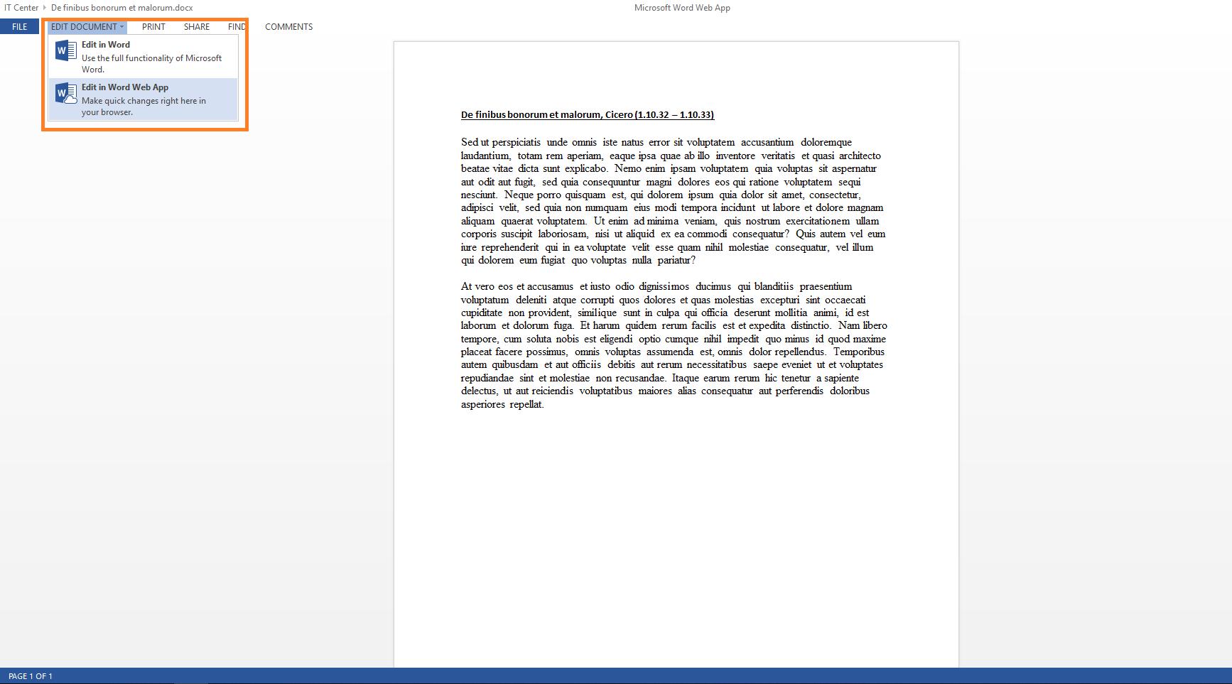 Word document edit tool