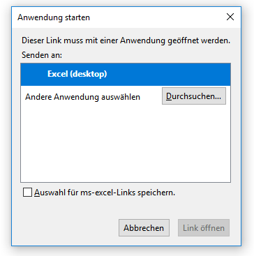 Excel lokale Anwendung starten