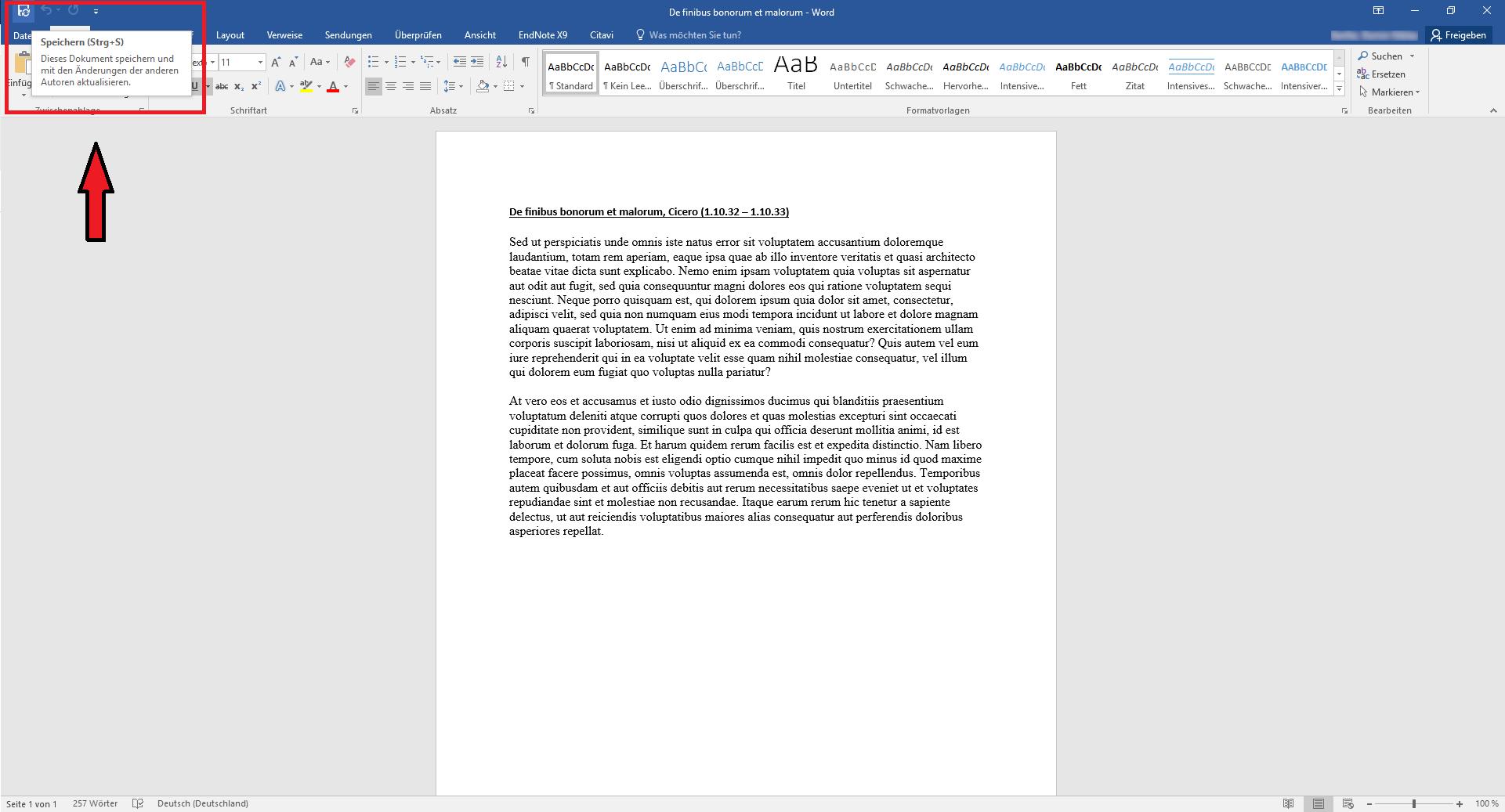 Word Dokument synchronisieren
