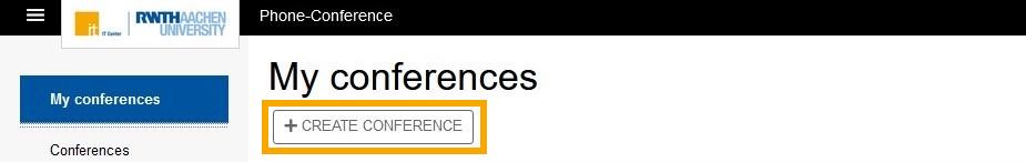Konferenz erstellen