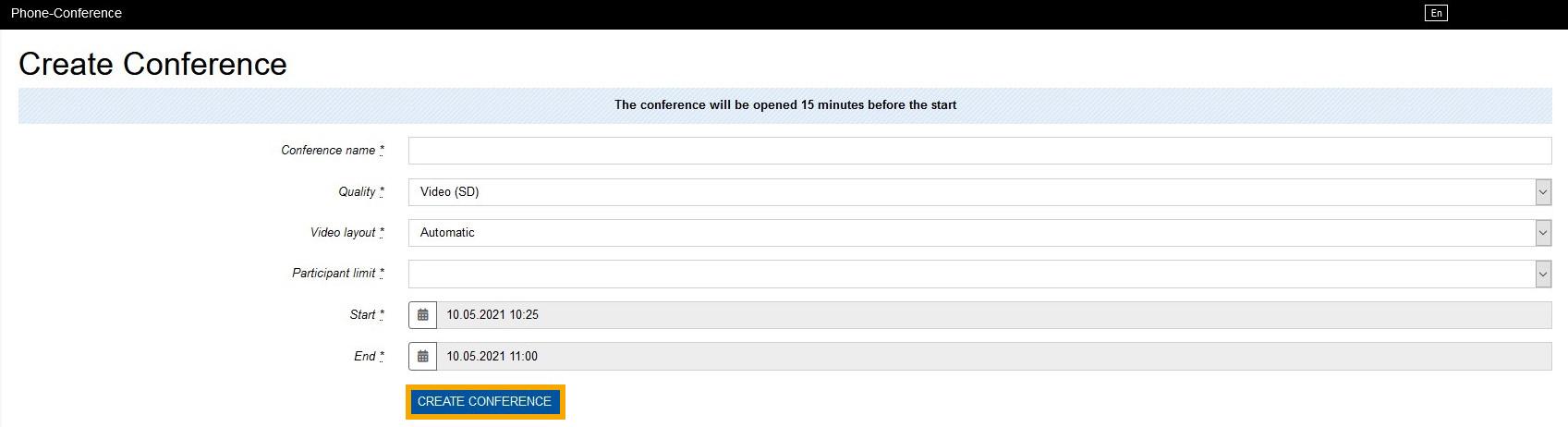 Konferenz erstellen 2