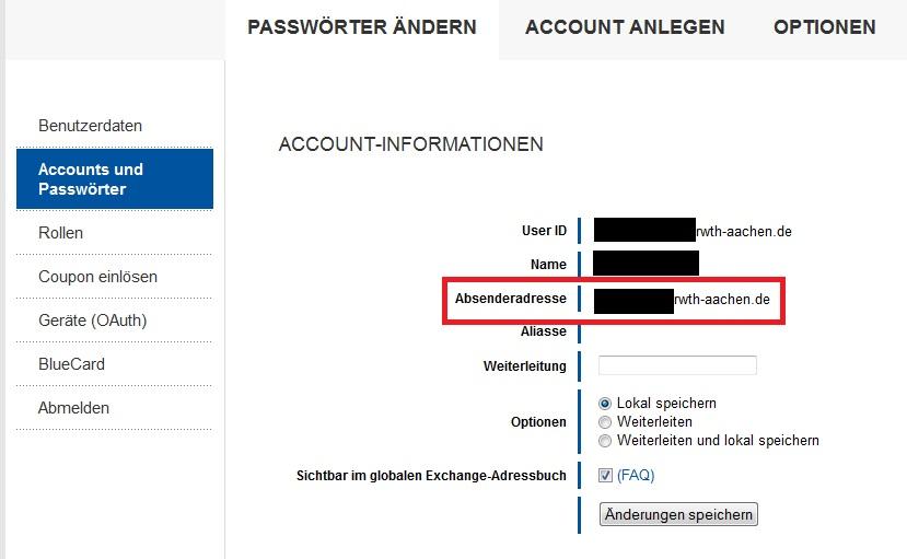 Wie lautet meine E-Mailadresse und wie lautet mein Benutzername für den Login? 2