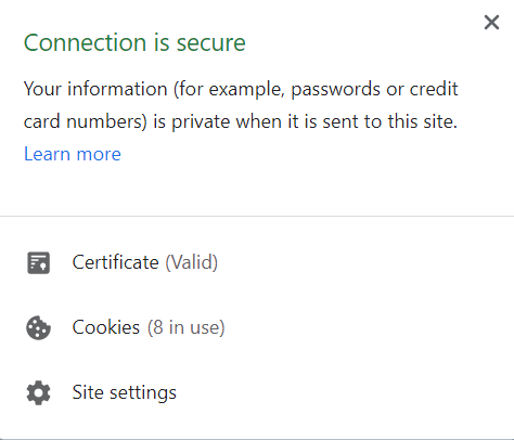 Security information to Single Sign-On connection
