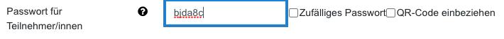 Screenshot Passwort, manuelle Eingabe