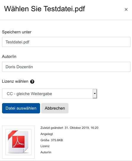 Screenshot Dateiauswahldialog