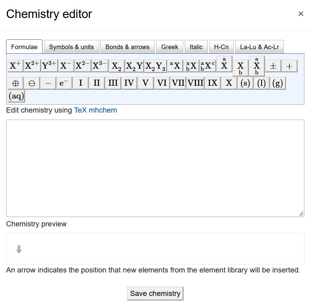 "Screenshot ""Chemistry editor"""