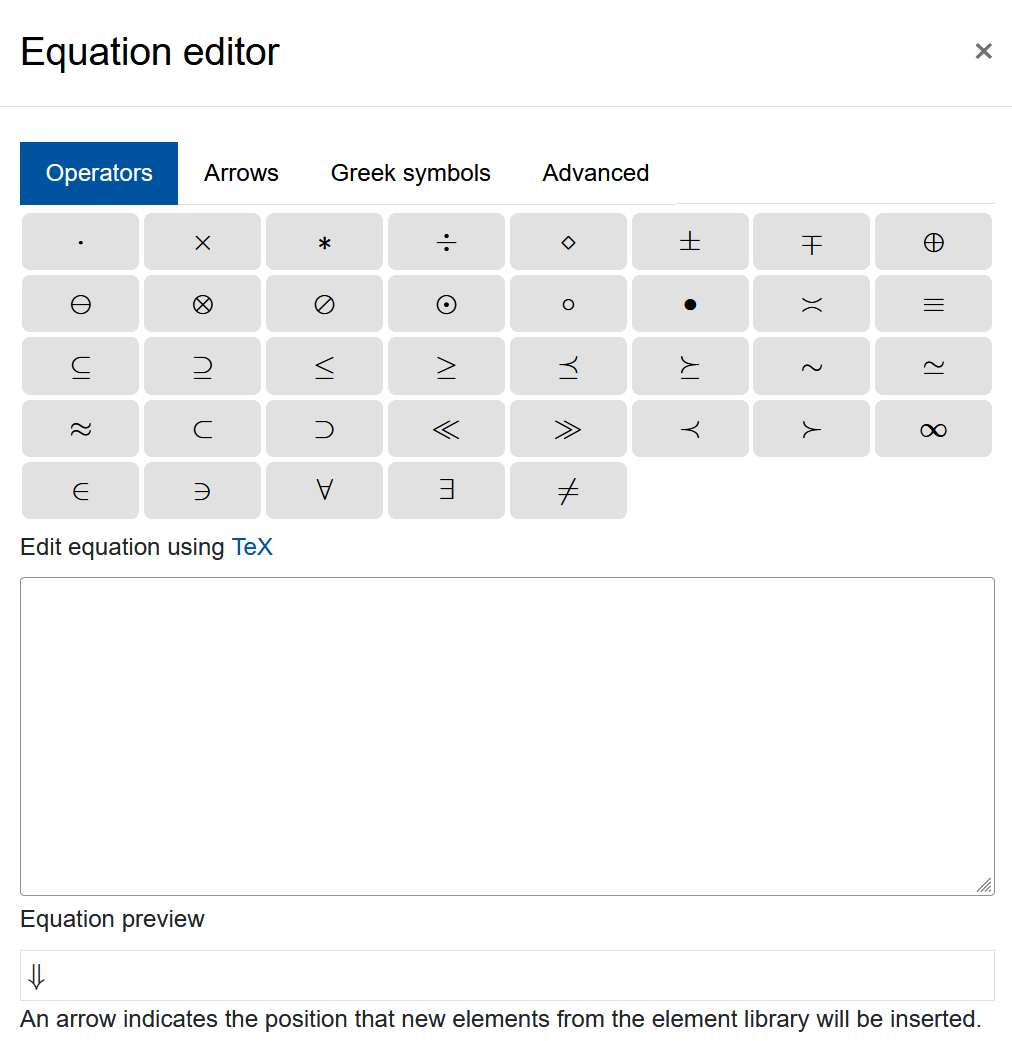 "Screenshot ""Equation editor"""