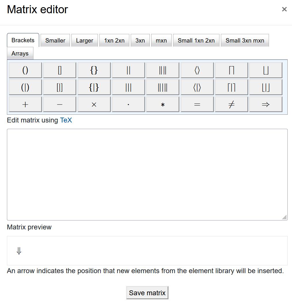 "Screenshot ""Matrix editor"""