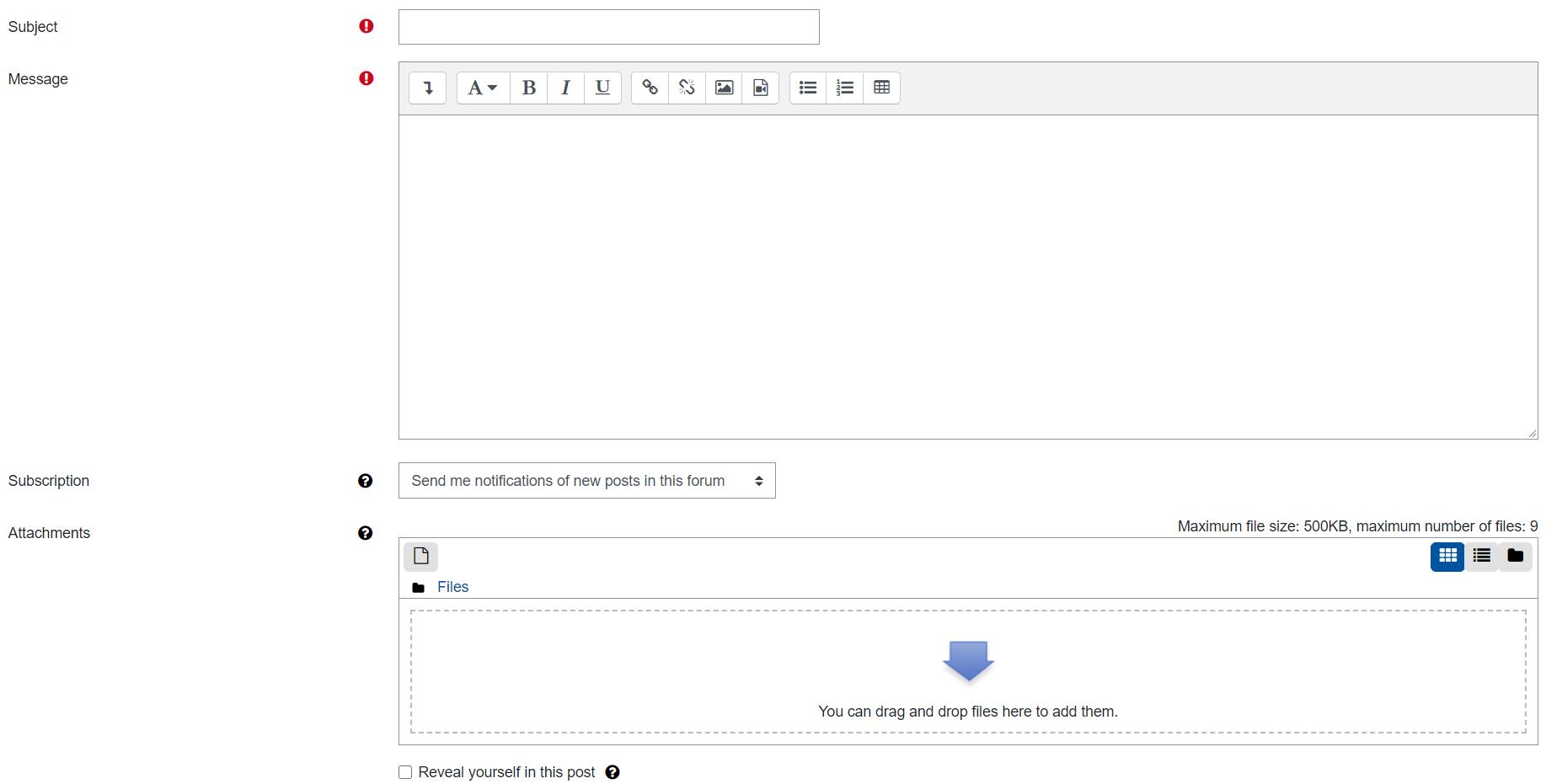 Screenshot advanced editor
