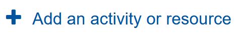 Screenshot Link Aktivitaet oder Material anlegen