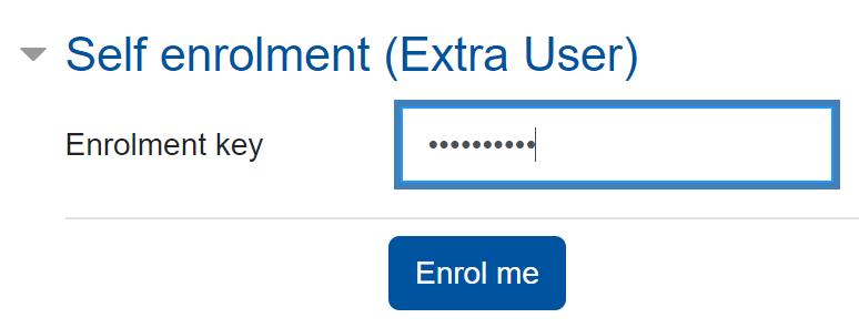 Screenshot self enrolment with enrolment key