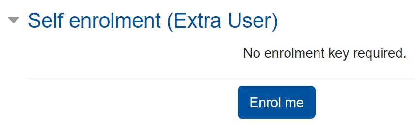 Screenshot Self enrolment without enrolment key