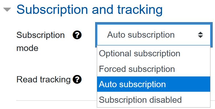 Screenshot Subscription mode