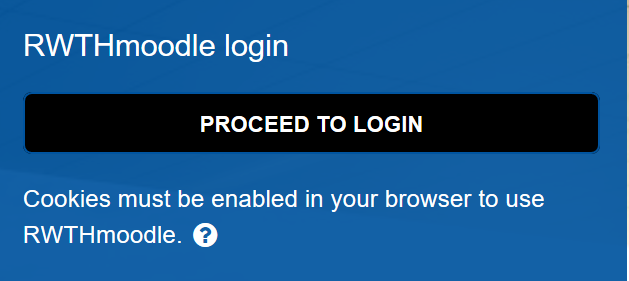 The picture shows the RWTHmoodle log-in window