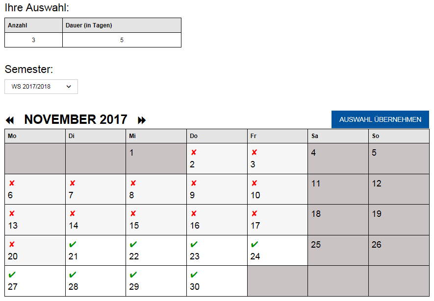 Ausleihkalender Laptops