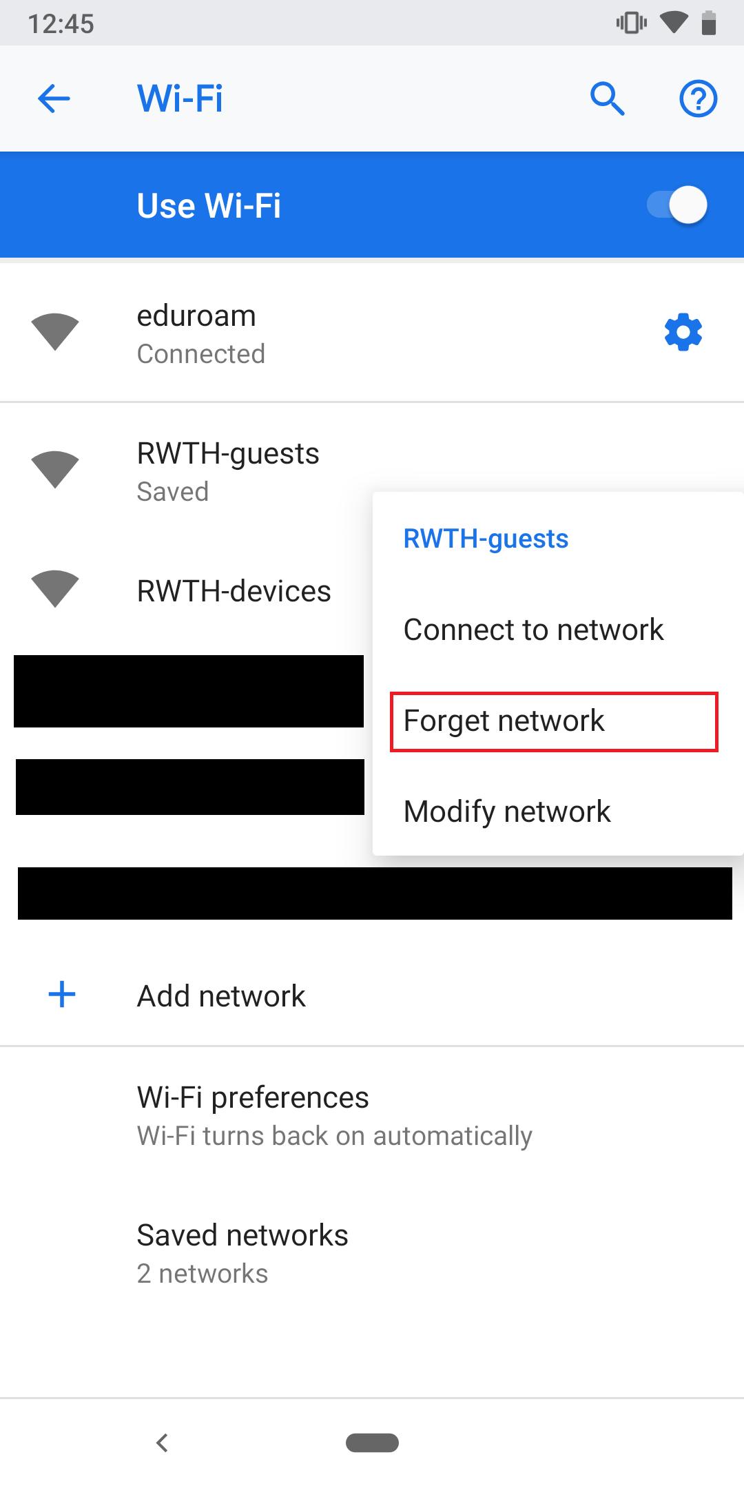 Remove RWTH-guest