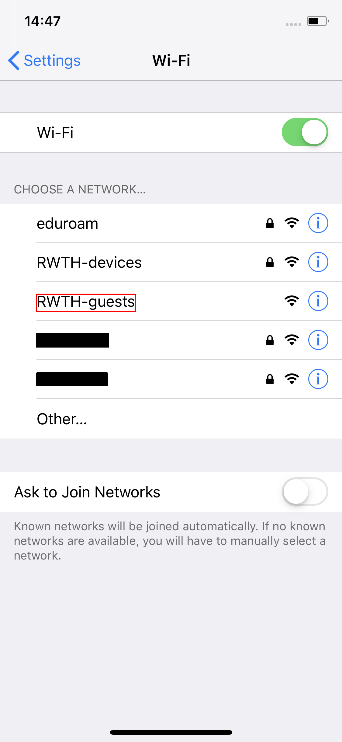 connect to RWTH-guests